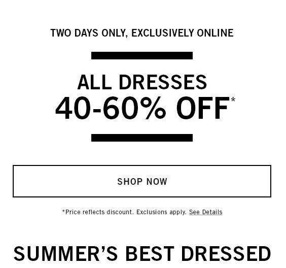 Abercrombie&Fitch精选连衣裙40%-60%OFF | 超级省钱