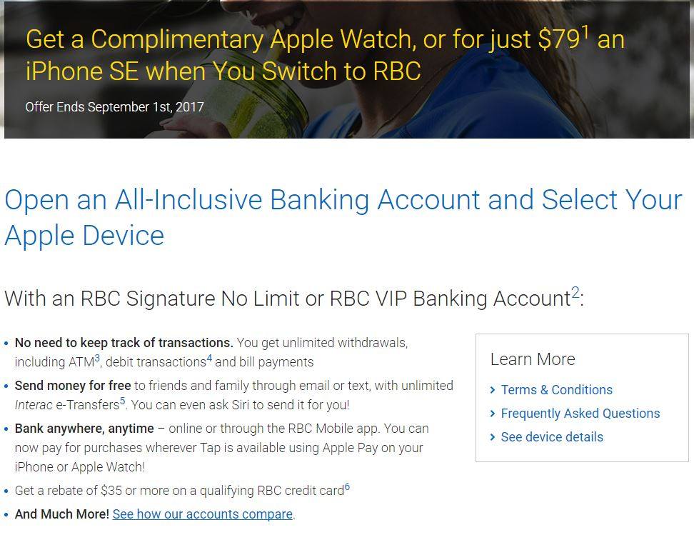 rbc signature no limit account