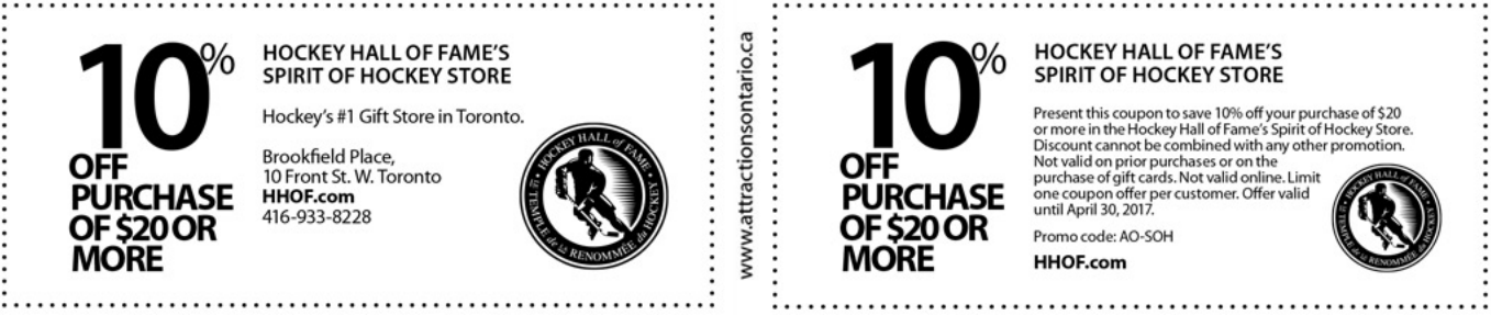 Hockey Hall of Fame Coupons & Deals go to get-raznoska.tk Total 20 active get-raznoska.tk Promotion Codes & Deals are listed and the latest one is updated on December 03, ; 4 coupons and 16 deals which offer up to 60% Off and extra discount, make sure to use one of them when you're shopping for get-raznoska.tk; Dealscove promise you'll get the best price on products you want.