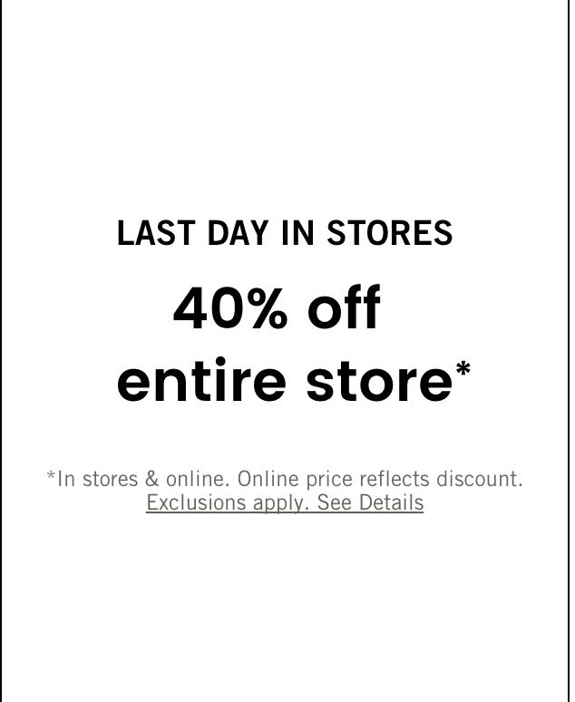 最后一天!Abercrombie&Fitch全场40%OFF | 超级省钱